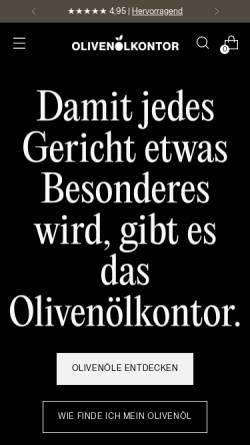 Vorschau der mobilen Webseite www.olivenoelkontor.de, Olivenölkontor