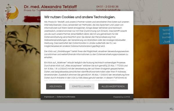 Vorschau von www.dr-tetzlaff.de, Dr. med. Alexandra Tetzlaff