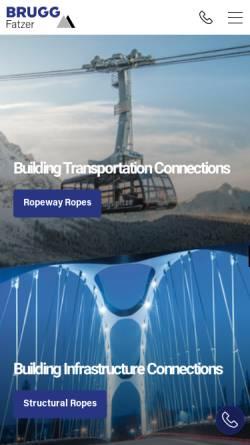 Vorschau der mobilen Webseite www.geobrugg.com, Fatzer AG