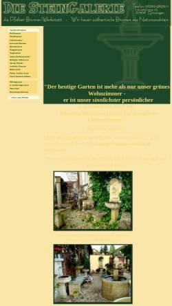 Vorschau der mobilen Webseite www.stein-galerie.de, Die Steingalerie, Inh. Ricarda Cirotzki