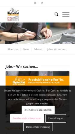 Vorschau der mobilen Webseite www.digitalicht.de, DigitaLicht AG