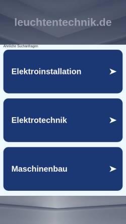 Vorschau der mobilen Webseite www.leuchtentechnik.de, Leuchtentechnik Georg Hofmann