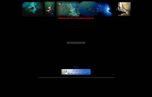 Vorschau von www.dive-projekt.de, Dive-Projekt: Wissen um das Tauchen