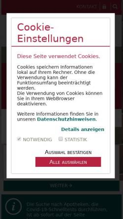 Vorschau der mobilen Webseite www.ak-sa.de, Apothekerkammer Sachsen-Anhalt