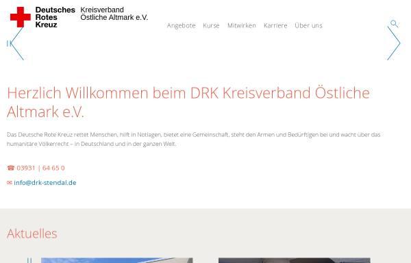 Vorschau von www.kv-oestliche-altmark.drk.de, DRK Kreisverband Östliche Altmark e.V.