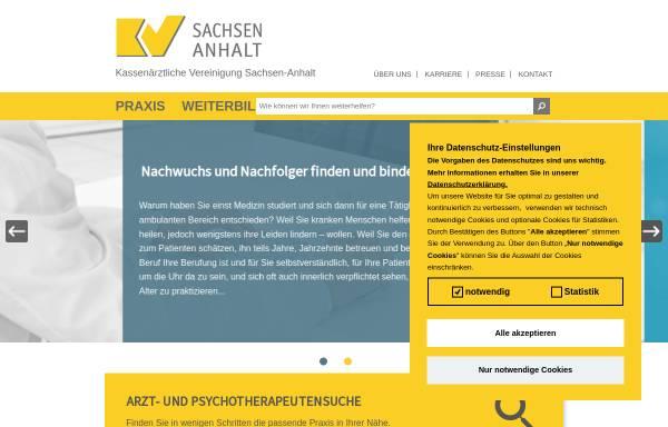 Vorschau von www.kvsa.de, Kassenärztliche Vereinigung Sachsen-Anhalt