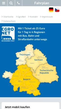 Vorschau der mobilen Webseite egronet.de, Egronet