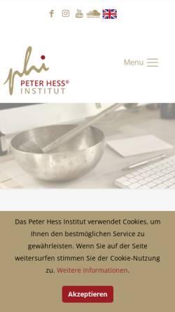 Vorschau der mobilen Webseite www.peter-hess-institut.de, Peter Hess Institut