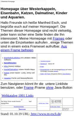 Vorschau der mobilen Webseite www.manfred-esch.de, Esch, Manfred