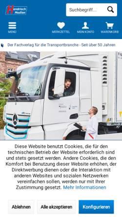 Vorschau der mobilen Webseite www.ladungssicherung.de, Verlag Günter Hendrisch GmbH & Co. KG