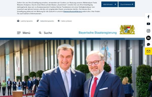 Vorschau von www.bayern.de, Bayrische Staatskanzlei