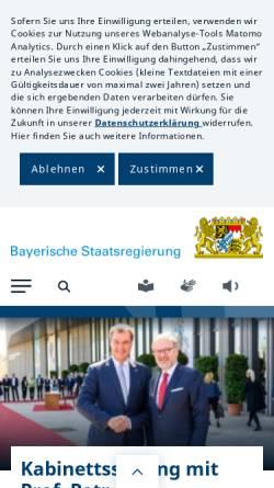 Vorschau der mobilen Webseite www.bayern.de, Bayrische Staatskanzlei
