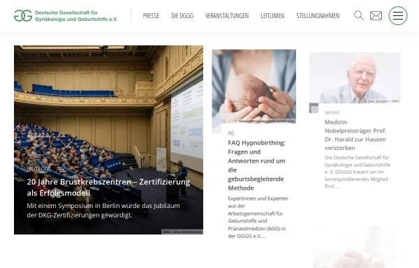 Vorschau von www.dggg.de, Deutsche Gesellschaft für Gynäkologie und Geburtshilfe (DGGG)