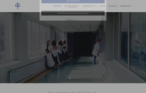 Vorschau von www.dggef.de, Deutsche Gesellschaft für Gynäkologische Endokrinologie und Fortpflanzungsmedizin