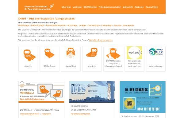 Vorschau von www.repromedizin.de, Deutsche Gesellschaft für Reproduktionsmedizin