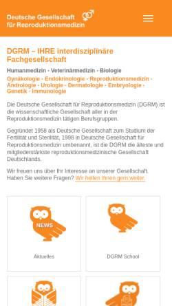 Vorschau der mobilen Webseite www.repromedizin.de, Deutsche Gesellschaft für Reproduktionsmedizin