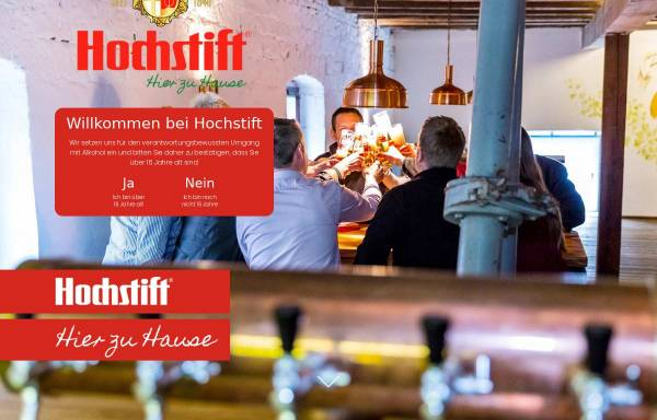 Vorschau von www.hochstift.de, Hochstiftliches Brauhaus Fulda GmbH