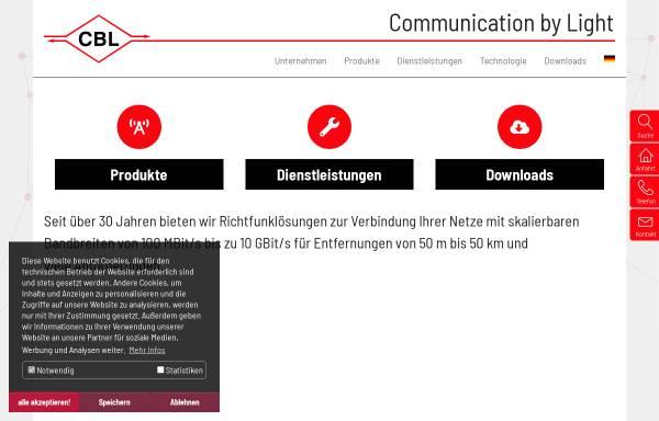 Vorschau von www.cbl.de, CBL Communication by light - Ges. f. optische Kommunikationssysteme mbH