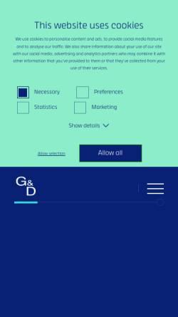 Vorschau der mobilen Webseite www.gdsys.de, Guntermann & Drunck GmbH Systementwicklung