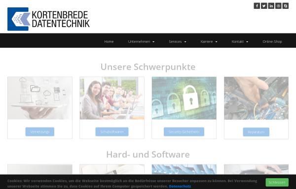 Vorschau von kortenbrede-datentechnik.de, Kortenbrede Datentechnik GmbH