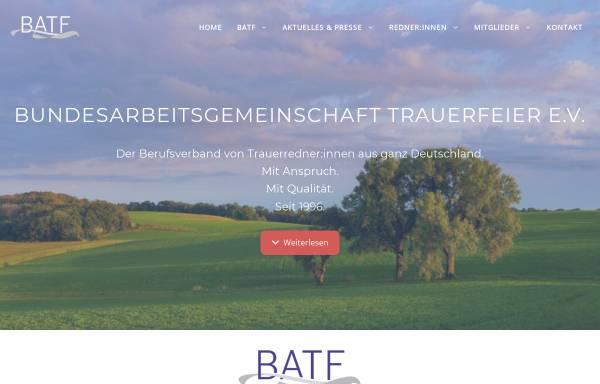 Vorschau von www.batf.de, Bundesarbeitsgemeinschaft Trauerfeier