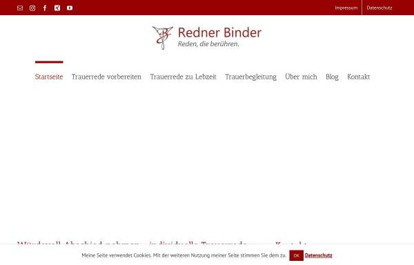 Vorschau von www.trauerredner-binder.de, Christian C. Binder