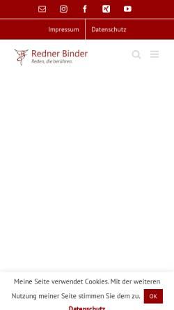 Vorschau der mobilen Webseite www.trauerredner-binder.de, Christian C. Binder