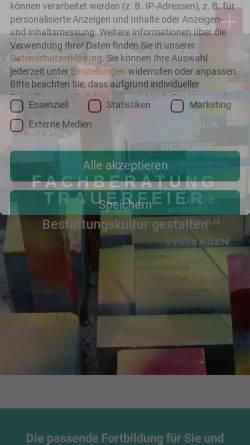 Vorschau der mobilen Webseite fachberatung-trauerfeier.de, Fachberatung Trauerfeier