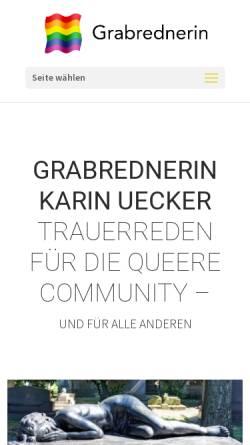 Vorschau der mobilen Webseite www.grabrednerin.de, Karin Uecker