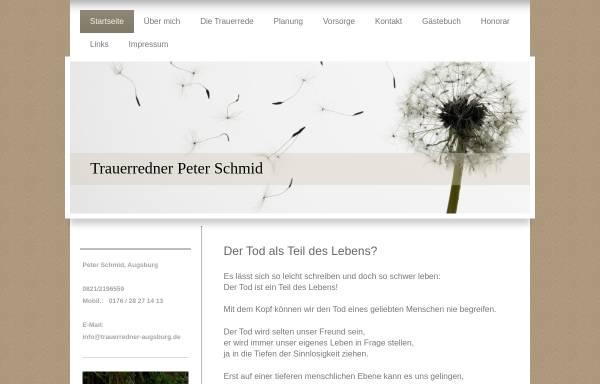 Vorschau von www.trauerredner-augsburg.de, Peter Schmid