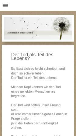 Vorschau der mobilen Webseite www.trauerredner-augsburg.de, Peter Schmid