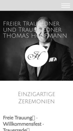 Vorschau der mobilen Webseite www.thoffmann.de, Thomas Hoffmann