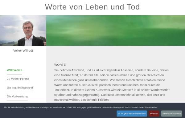 Vorschau von www.volker-willrodt.de, Volker Willrodt