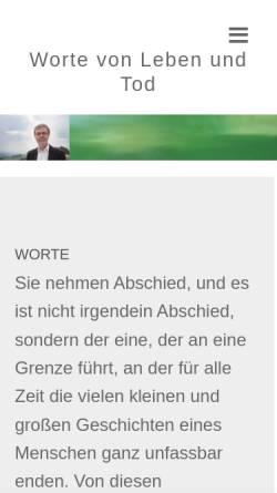 Vorschau der mobilen Webseite www.volker-willrodt.de, Volker Willrodt