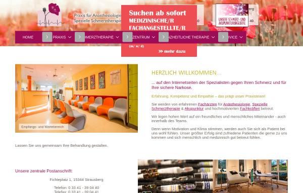 Vorschau von www.aoz-strausberg.de, Gemeinschaftspraxis für Anästhesiologie in Strausberg