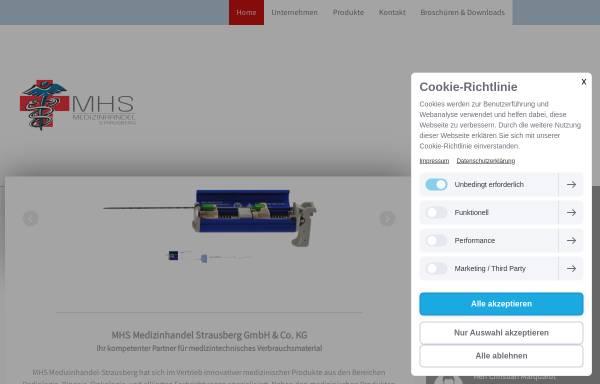 Vorschau von www.mhs-strausberg.de, Medizinhandel Strausberg oHG