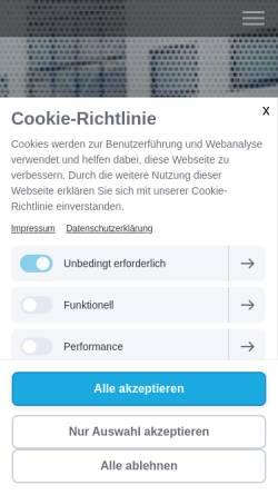 Vorschau der mobilen Webseite www.mhs-strausberg.de, Medizinhandel Strausberg oHG