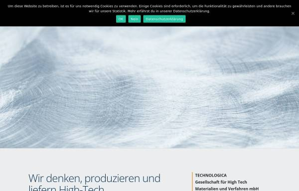 Vorschau von www.technologica.de, Technologica Vertriebsgesellschaft für technische Erzeugnisse m.b.H.