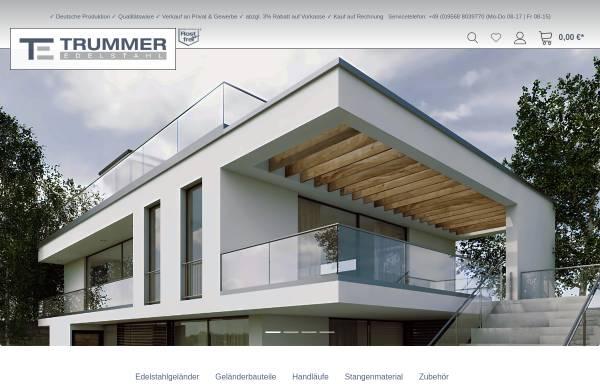 Vorschau von www.edelstahl-trummer.de, Trummer-Edelstahl GmbH