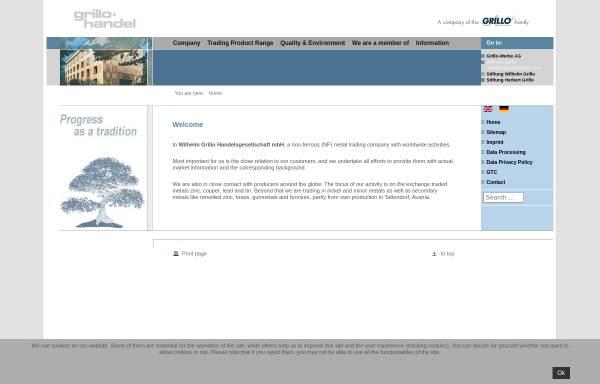 Vorschau von www.grillohandel.de, Wilhelm Grillo Handelsgesellschaft mbH