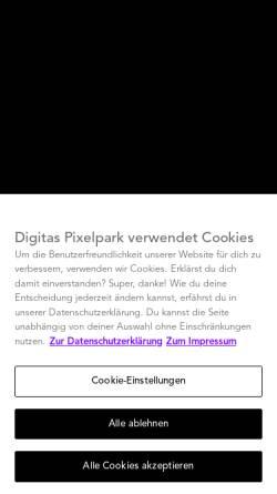Vorschau der mobilen Webseite www.digitaspixelpark.com, Publicis Pixelpark Deutschland