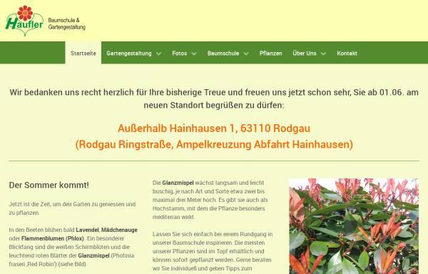Vorschau von www.haufler-garten.de, Haufler Baumschule und Gartengestaltung