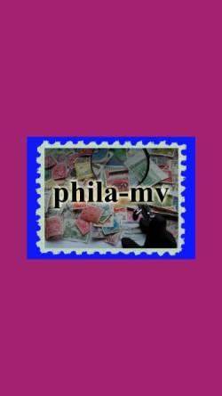 Vorschau der mobilen Webseite www.phila-mv.de, Landesverband der Philatelisten Mecklenburg-Vorpommern e.V.