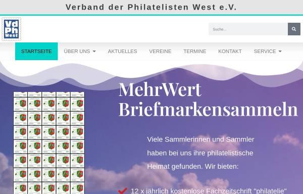 Vorschau von www.vdph.de, Verband der Philatelisten in Nordrhein-Westfalen e.V. (VdPh)