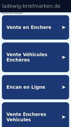 Vorschau der mobilen Webseite www.ladewig-briefmarken.de, Gerd Ladewig Briefmarken GmbH