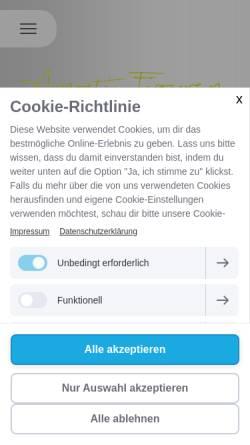 Vorschau der mobilen Webseite www.arnosti-figuren.ch, Arnosti-Figuren GmbH