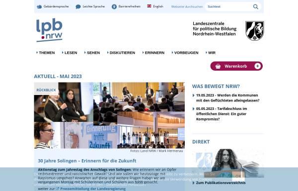 Vorschau von www.politische-bildung.nrw.de, Landeszentrale für politische Bildung Nordrhein-Westfalen