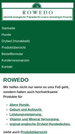Vorschau der mobilen Webseite www.rowedo.de, Rowedo, Artur Ansilewski