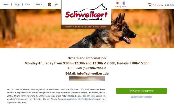 Vorschau von www.schweikert-shop.he-hosting.de, Schweikert Hundesportartikel