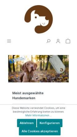 Vorschau der mobilen Webseite www.hundemarke.com, Hundemarke